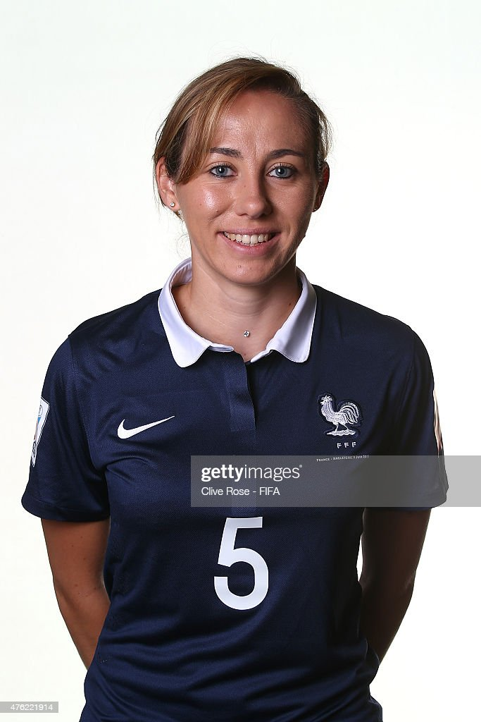 Sabrina Delannoy of France poses during a FIFA Women's World Cup portrait session on June 6, 2015 in Moncton, Canada.