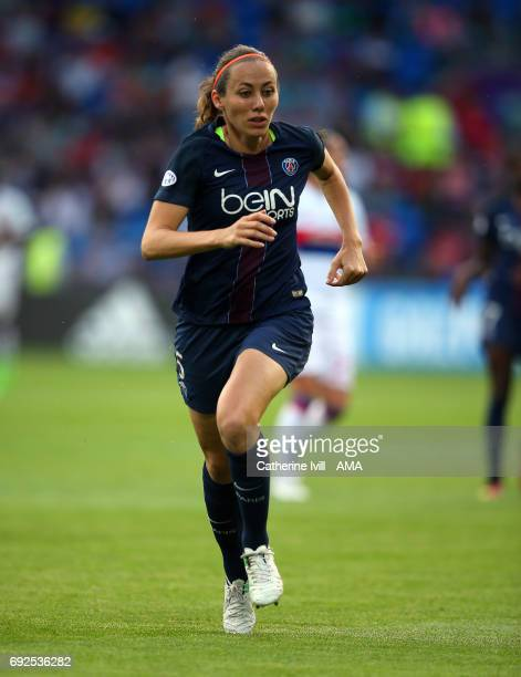 Sabrina Delannoy of PSG during the UEFA Women's Champions League Final match between Lyon and Paris Saint Germain at Cardiff City Stadium on June 1...