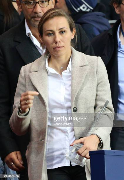 Sabrina Delannoy of PSG Feminines attends the French League 1 match between Paris SaintGermain and Stade Malherbe de Caen at Parc des Princes stadium...