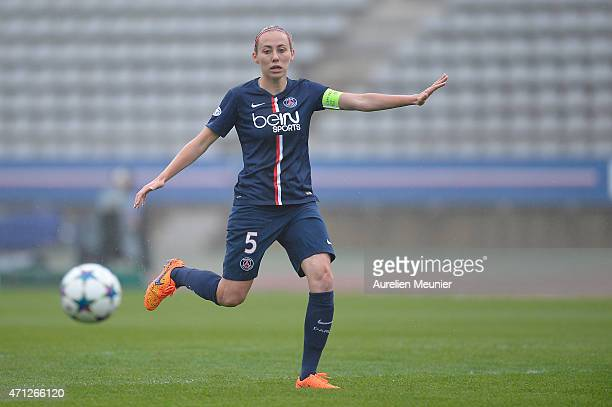 Sabrina Delannoy of PSG in action during the UEFA Womens Champions League Semifinal game between Paris Saint Germain and VfL Wolfsburg at Stade...