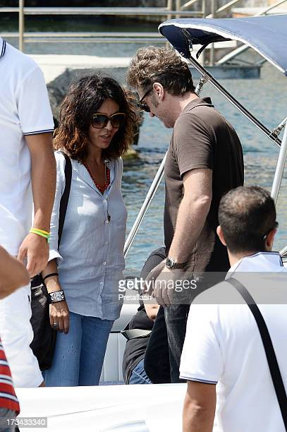Sabrina Ferilli and Flavio Cattaneo are seen at the 2013 Ischia Global Fest on July 14 2013 in Ischia Italy