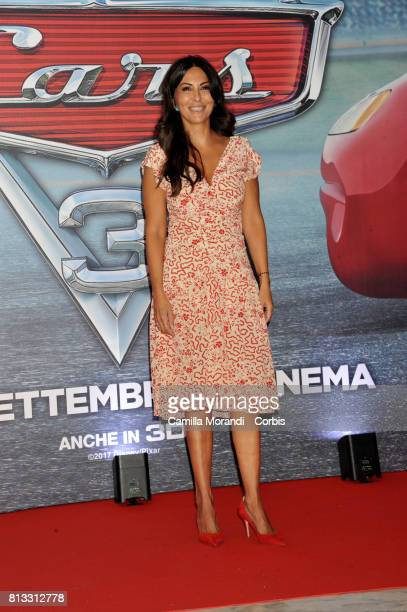 Sabrina Ferilli attends a photocall for Cars 3 on July 12 2017 in Rome Italy