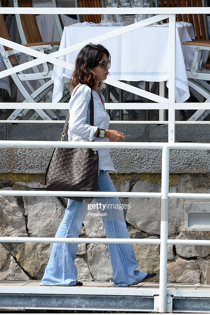 <a gi-track='captionPersonalityLinkClicked' href=/galleries/search?phrase=Sabrina+Ferilli&family=editorial&specificpeople=738468 ng-click='$event.stopPropagation()'>Sabrina Ferilli</a> is seen at the 2013 Ischia Global Fest on July 14, 2013 in Ischia, Italy.