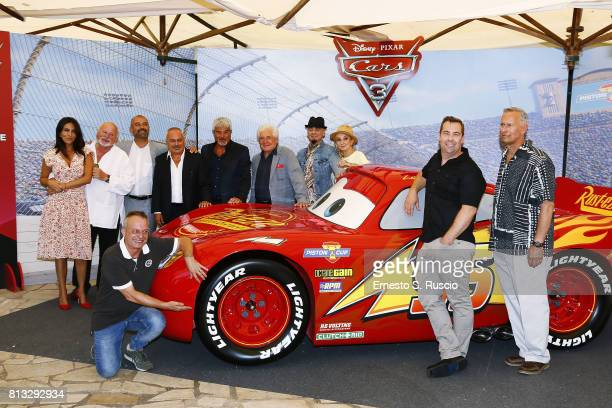 Sabrina Ferilli Marco Messeri Ivan Capelli Gianfranco Mazzoni Pino Insegno Ugo Pagliai JAx La Pina Brian Fee and Kevin Reher attend a photocall for...