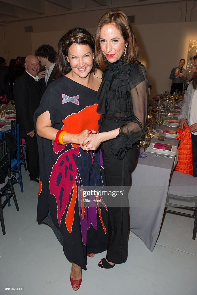 Sabrina Franzheim and Vanessa Arelle attend Ballroom Marfa 10th Year Celebration at Center 548 on April 8, 2013 in New York City.