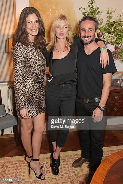 Sabrina Gasperin Kate Moss and Ara Vartanian attend a cocktail reception to preview Ara Vartanian's Unique Jewellery Collection hosted by Ara...