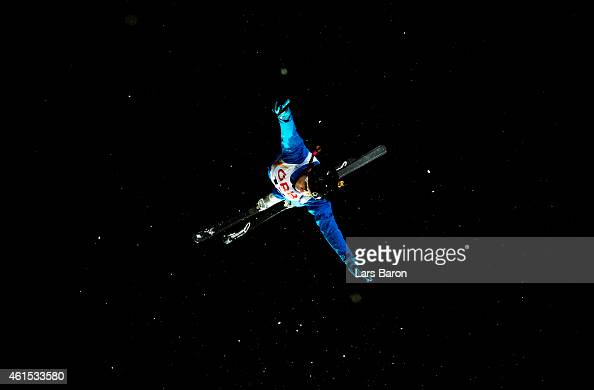Sabrina Guerin of Canada competes during Ladies' Aerials Qualification ahead of the FIS Freestyle Ski and Snowboard World Championships on January 14...