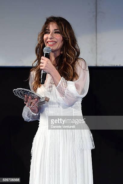 Sabrina Impacciatore attends 62 Taormina Film Fest Day 2 on June 12 2016 in Taormina Italy