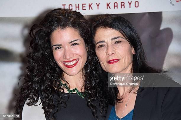Sabrina Ouazani and Hiam Abbass attend the 'De Guerre Lasse' Paris Premiere at UGC Cine Cite des Halles on April 29 2014 in Paris France