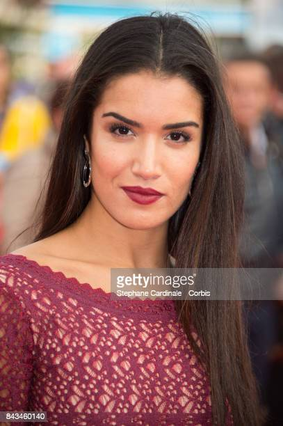 Sabrina Ouazani arrives for the screening of 'The Music of Silence' during the 43rd Deauville American Film Festival on September 6 2017 in Deauville...