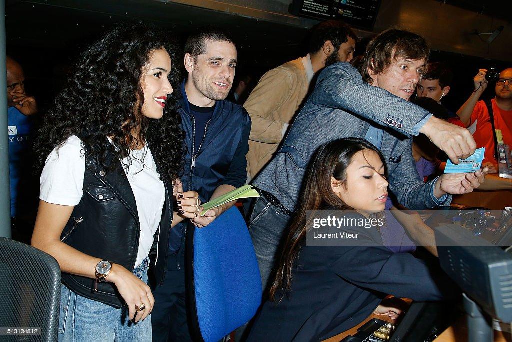 Sabrina Ouazani, Arthur Dupont and Pascal Demolon attend the 32nd 'Fete du Cinema' launch at UGC Cine Cite Bercy on June 26, 2016 in Paris, France.