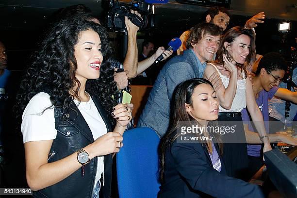 Sabrina Ouazani Pascal Demolon and Elodie Bouchez attend the 32nd 'Fete du Cinema' launch at UGC Cine Cite Bercy on June 26 2016 in Paris France
