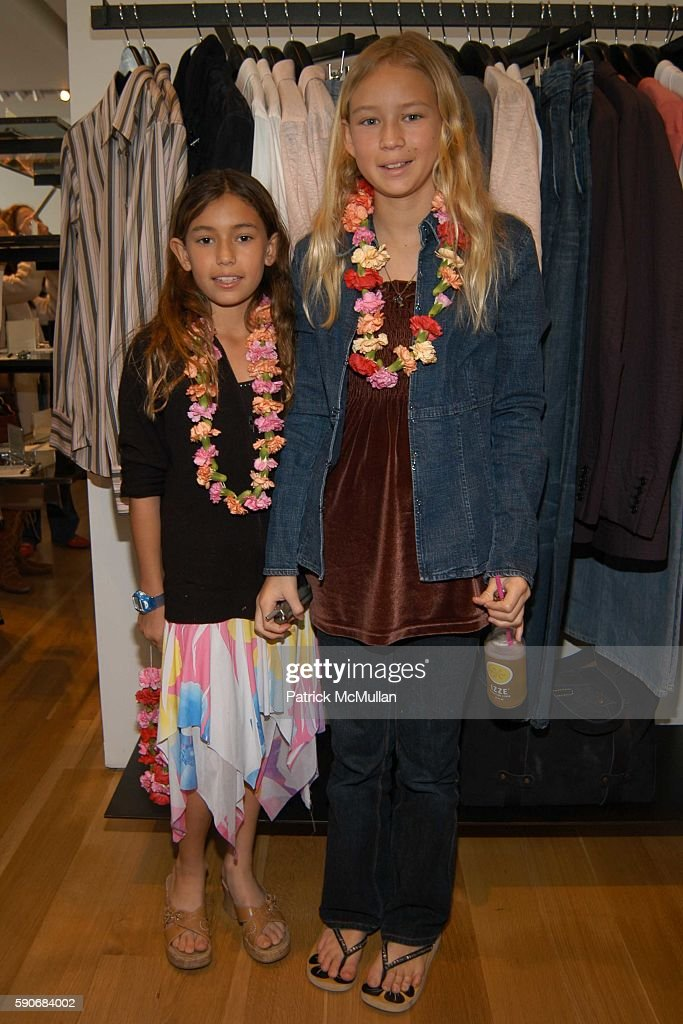 Sabrina Parra and Natalie Parra attend John Varvatos' 3rd Annual Stuart House Charity Benefit at John Varvatos Boutique on March 5 2005 in West...