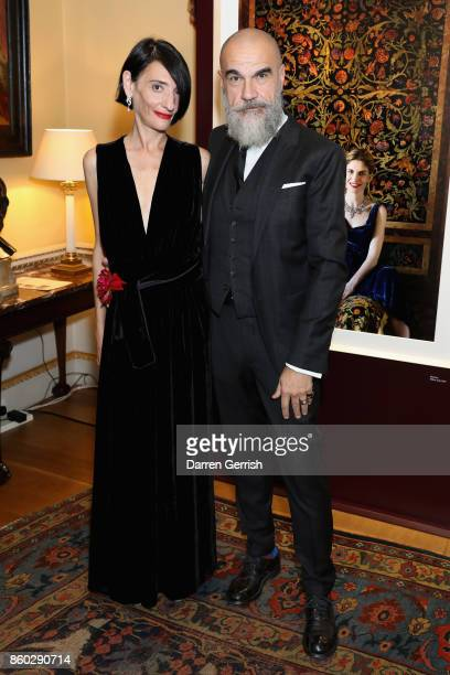 Sabrina Querci and Giampiero Bodino attend Giampiero Bodino's 'Beauty Is My Favourite Colour' cocktails and dinner evening at Spencer House on...