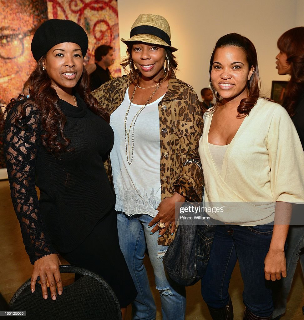 Sabrina Rowe, Teresa Caldwell and Tracy Nicole attend the birthday and foundation lanuch Kile's World to honor Kile Glover at the Woodruff Arts Center on March 29, 2013 in Atlanta, Georgia.