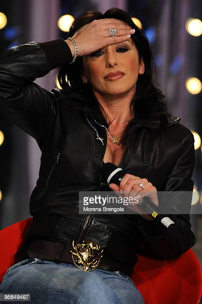 Sabrina Salerno during 'Scalo 76' TV Show on January 10 2009 in Milan Italy
