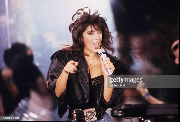 Sabrina Salerno Musician Singer Pop music Italy performing 1987