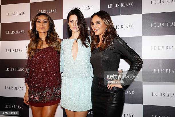 Sabrina Sato Kendall Jenner and Bruna Marquezine attend Le Lis Blanc Winter Collection Cocktail at Le Lis Blanc store on May 28 2015 in Sao Paulo...
