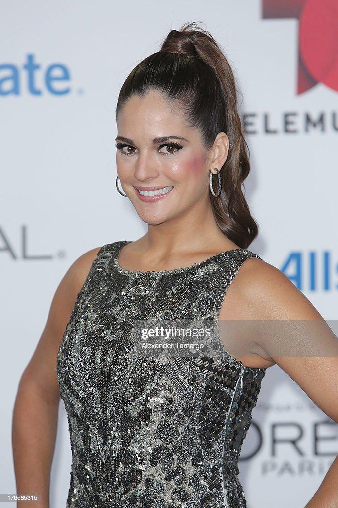 Sabrina Seara attends Telemundo's Premios Tu Mundo Awards at American Airlines Arena on August 15, 2013 in Miami, Florida.