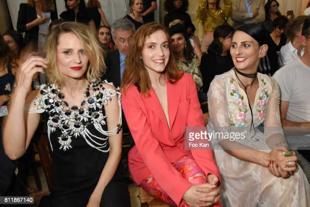 Sabrina SeyvecouMaud WylerSylvie Ortega Munos  attend the Julien Fournie Haute Couture Fall/Winter 20172018 show as part of Haute Couture Paris...