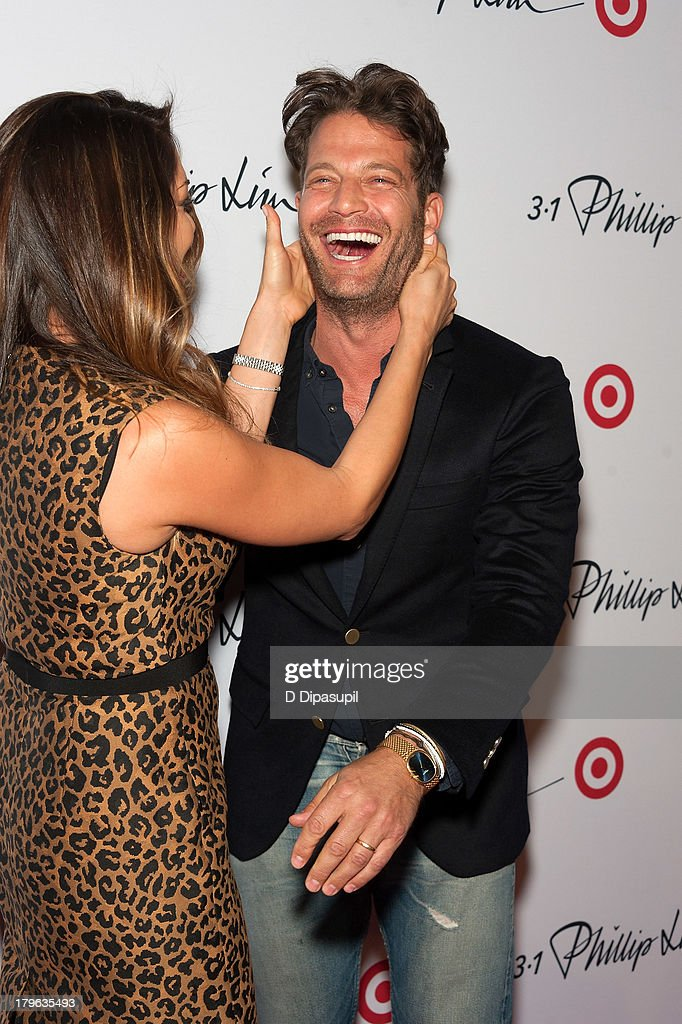 Sabrina Soto (L) and <a gi-track='captionPersonalityLinkClicked' href=/galleries/search?phrase=Nate+Berkus&family=editorial&specificpeople=4350268 ng-click='$event.stopPropagation()'>Nate Berkus</a> attend the 3.1 Phillip Lim for Target Launch Event at Spring Studio on September 5, 2013 in New York City.