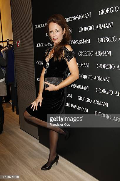 Sabrina Staubitz at the opening of the Giorgio Armani and Emporio Armani boutiques in the High bleaching in Hamburg