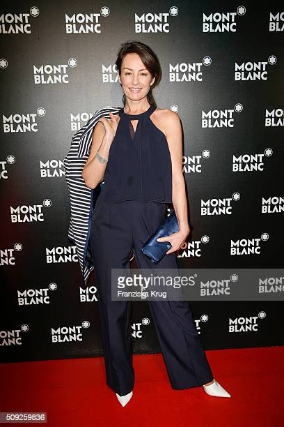 Sabrina Staubitz attends the Montblanc House Opening on February 09 2016 in Hamburg Germany