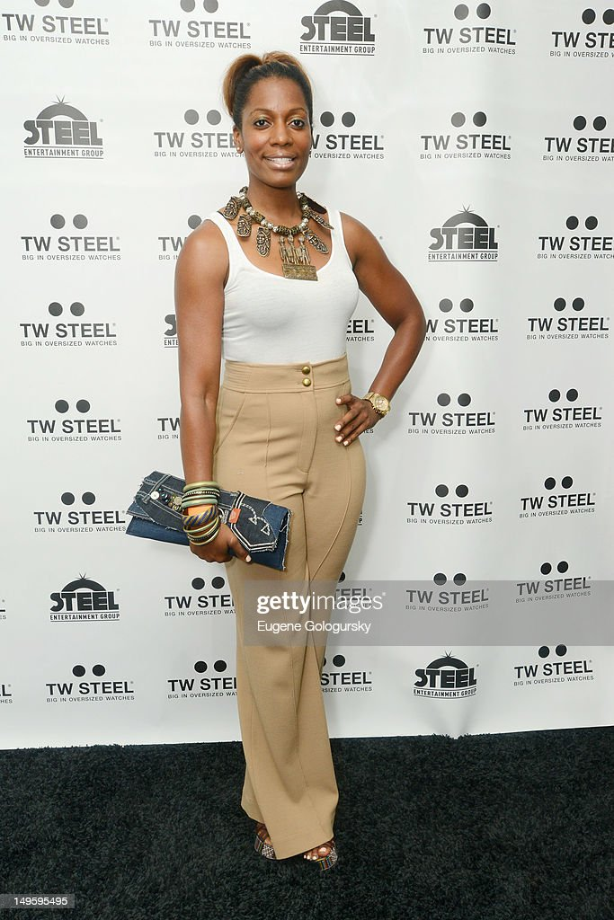 Sabrina Thompson attends TW Steel Jordy Cobelens unveiling of the new TW Steel Kelly Rowland 'Special Edition' watches at The Standard on July 31...
