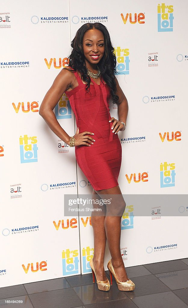 <a gi-track='captionPersonalityLinkClicked' href=/galleries/search?phrase=Sabrina+Washington&family=editorial&specificpeople=226729 ng-click='$event.stopPropagation()'>Sabrina Washington</a> attends the West End Premiere of 'It's A Lot' at Vue West End on October 21, 2013 in London, England.