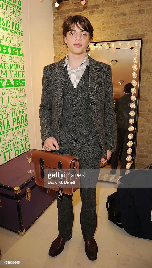 Sacha Bailey attends The Cambridge Satchel Company launch of their East London pop up store on December 5, 2013 in London, England.