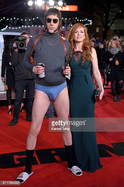 Sacha Baron Cohen and Isla Fisher attend the World premiere of 'Grimsby' at Odeon Leicester Square on February 22 2016 in London England