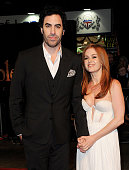 Sacha Baron Cohen and Isla Fisher attend the World Premiere of 'Les Miserables' at Odeon Leicester Square on December 5 2012 in London England