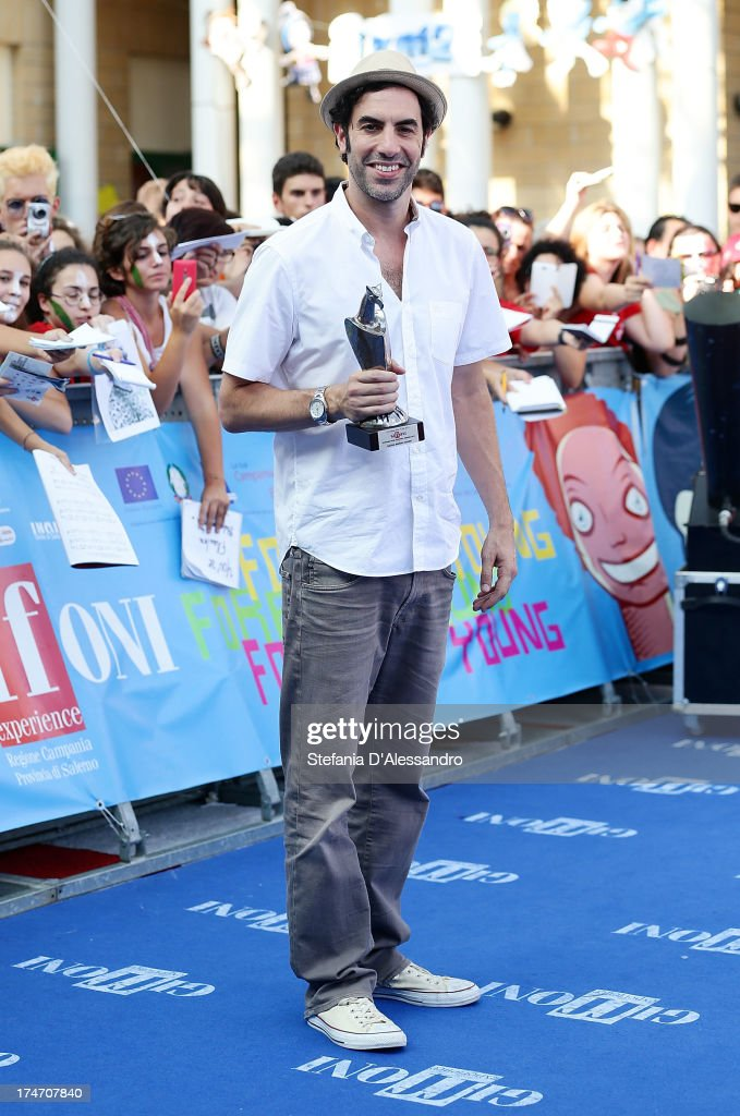 Sacha Baron Cohen attends 2013 Giffoni Film Festival blue carpet on July 28, 2013 in Giffoni Valle Piana, Italy.
