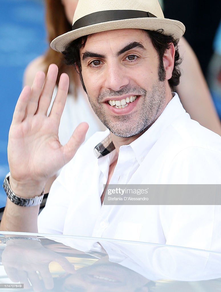 <a gi-track='captionPersonalityLinkClicked' href=/galleries/search?phrase=Sacha+Baron+Cohen&family=editorial&specificpeople=216389 ng-click='$event.stopPropagation()'>Sacha Baron Cohen</a> attends 2013 Giffoni Film Festival blue carpet on July 28, 2013 in Giffoni Valle Piana, Italy.