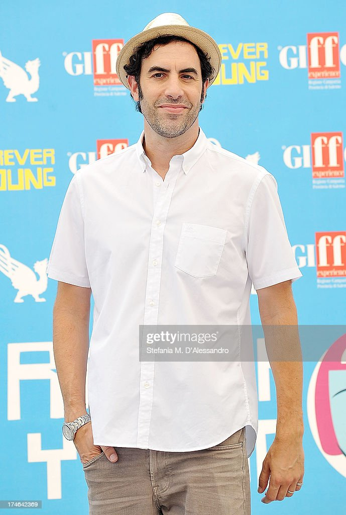 <a gi-track='captionPersonalityLinkClicked' href=/galleries/search?phrase=Sacha+Baron+Cohen&family=editorial&specificpeople=216389 ng-click='$event.stopPropagation()'>Sacha Baron Cohen</a> attends 2013 Giffoni Film Festival photocall on July 28, 2013 in Giffoni Valle Piana, Italy.