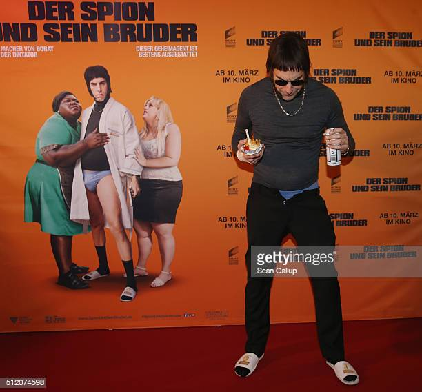 Sacha Baron Cohen attends the German premiere of the film 'The Brothers Grimsby' at Cubix on February 24 2016 in Berlin Germany