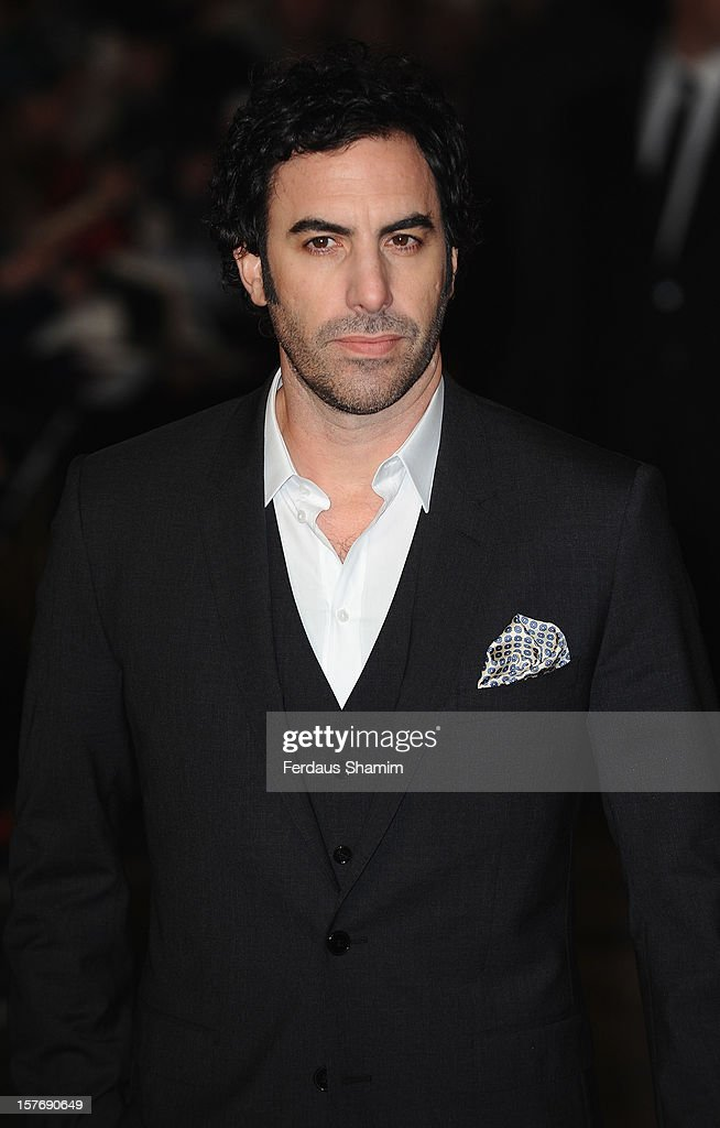 Sacha Baron Cohen attends the World Premiere of 'Les Miserables' at Odeon Leicester Square on December 5, 2012 in London, England.