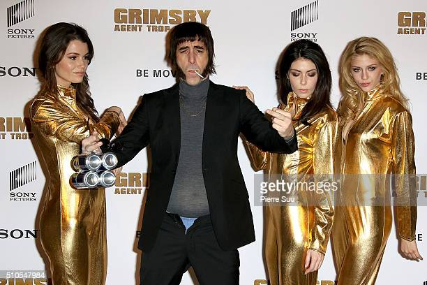Sacha Baron Cohen poses at 'The Brothers Grimsby' photocall at Hotel Le Bristol on February 16 2016 in Paris France