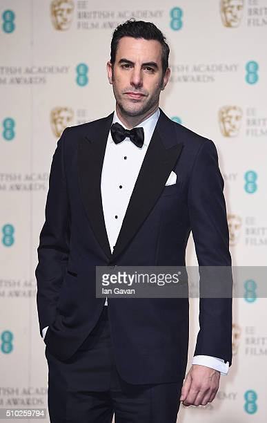 Sacha Baron Cohen poses in the winners room at the EE British Academy Film Awards at the Royal Opera House on February 14 2016 in London England