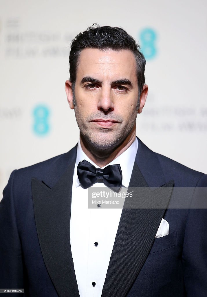 <a gi-track='captionPersonalityLinkClicked' href=/galleries/search?phrase=Sacha+Baron+Cohen&family=editorial&specificpeople=216389 ng-click='$event.stopPropagation()'>Sacha Baron Cohen</a> poses in the winners room at the EE British Academy Film Awards at The Royal Opera House on February 14, 2016 in London, England.
