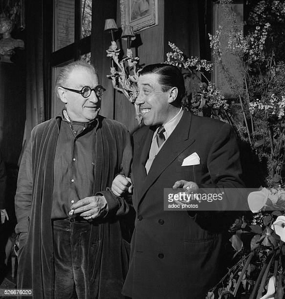 Sacha Guitry and Fernandel In 1953