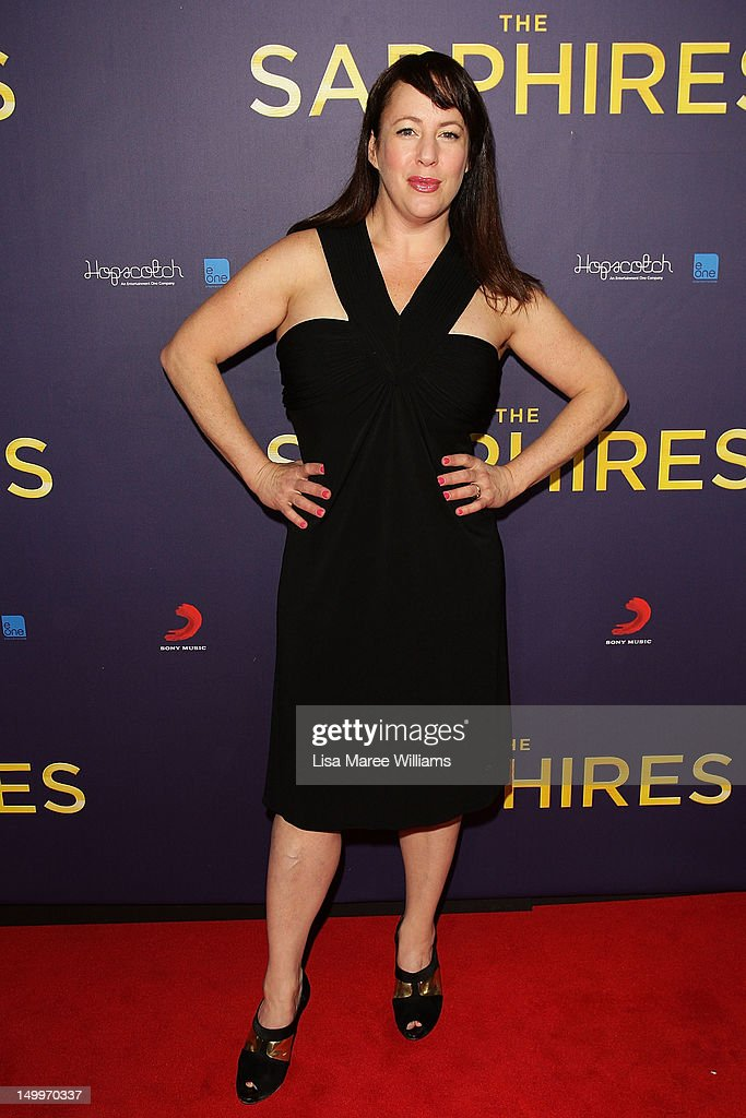 Sacha Horler poses on the red carpet at the Sydney Premiere of The Sapphires at State Theatre on August 8, 2012 in Sydney, Australia.
