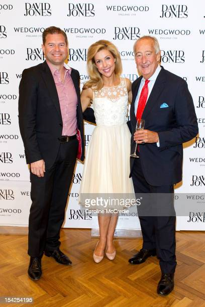Sacha Laing Catriona Rowntree and Lord Wedgwood attend David Jones High Tea With Lord Wedgwood on October 17 2012 in Sydney Australia