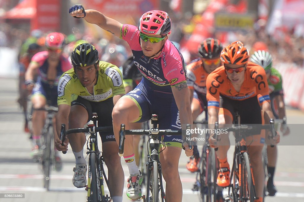 Sacha Modolo, an Italian rider from Lampre-Merida, wins the seventh stage of the 52nd Presidential Tour of Turkey 2016, the 128.6 km from Fethiye to Marmaris. On Saturday, 30 April 2016, in Marmaris, Turkey.