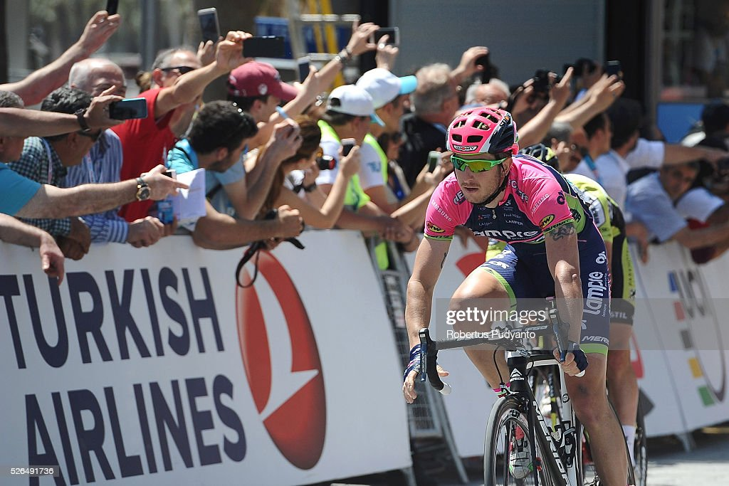 Sacha Modolo of Lampre-Merida sprints to finish in Stage 7 of the 2016 Tour of Turkey, Fethiye to Marmaris (128.5 km) on April 30, 2016 in Fethiye, Turkey.