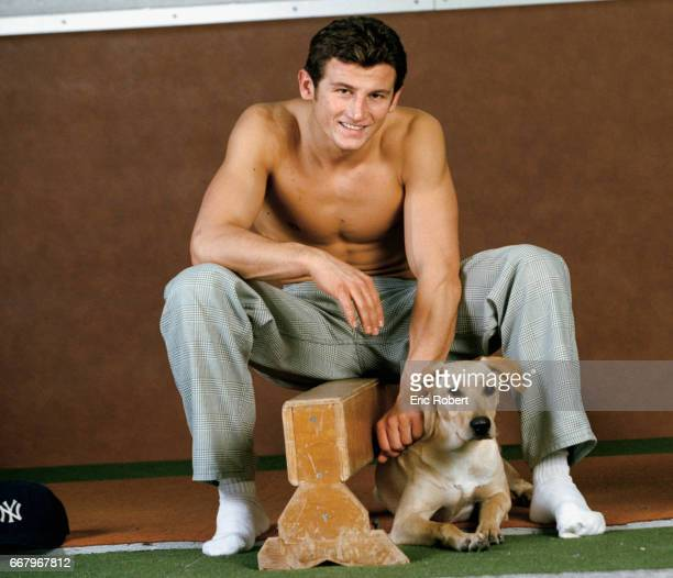 Sacha Nikolic host of the French television program Disney Club sits with his pet dog Nikolic has also choreographed dance routines for the boy band...