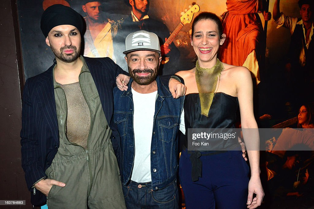 Sacha Noblet, Simon Azoulay and Charlotte Boucher Heller attend 'La Dance des Coincidences' Party At The Favella Chic on March15, 2013 in Paris, France.
