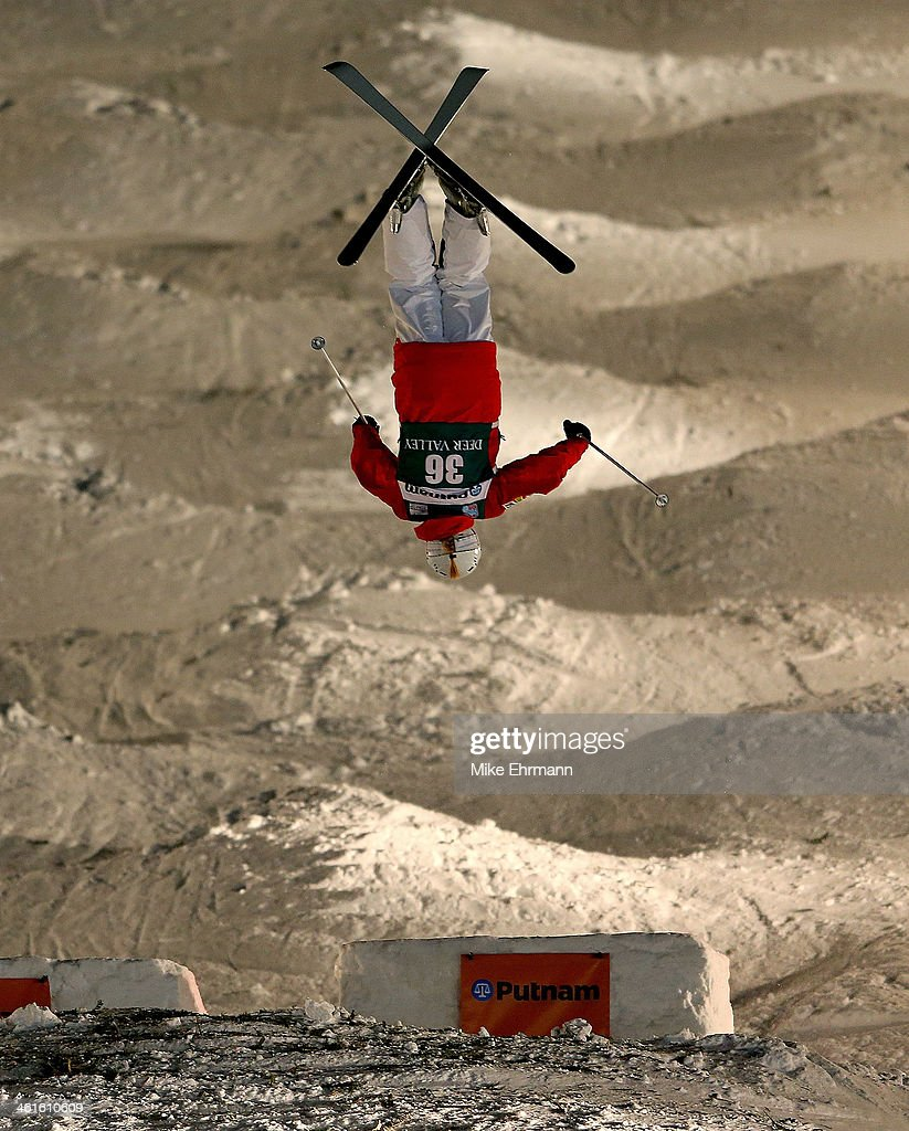 Sacha Theocharis of France competes during Finals for Mens Moguls at the 2014 FIS Freestyle Ski World Cup at Deer Valley on January 9, 2014 in Park City, Utah.