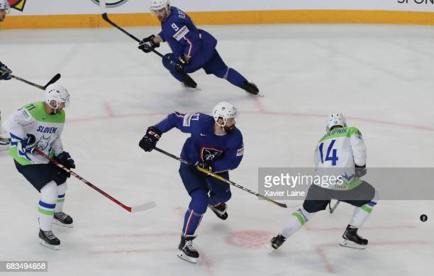 Sacha Treille of France during the 2017 IIHF Ice Hockey World Championship game between France and Slovenia at AccorHotels Arena on May 15 2017 in...