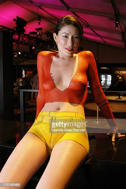 Sachi during Olympus Fashion Week Fall 2004 MAC Lounge Estaban Cortazar at The Tent at Bryant Park in New York New York United States